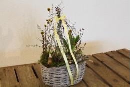 Frühlingsblüher ovales Körbchen